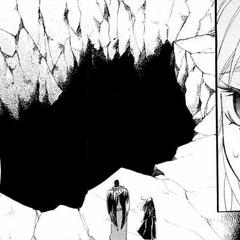 Abajo de esa oscura fosa se encuentran Raijiuyuu y el alma de Joubou.