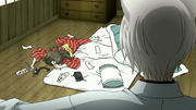 Nanami passed out