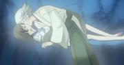 Nanami getting kissed by Mizuki