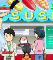 Sharimin opened sushi stand