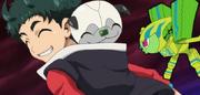 Ta-pumin grumpy face with smiling Yuto and Wanda