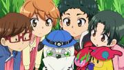 Kamiwaza Team with Yui, Turbomin and Zuzumin