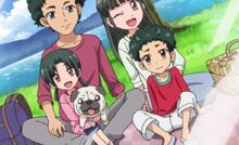 Wannosuke With His Owners The Kamiya Family