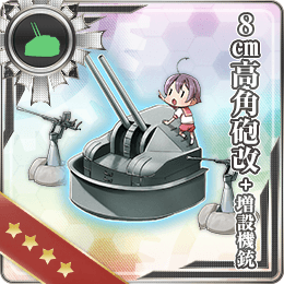 8cm High-angle Gun Kai + Additional Machine Guns 220 Card