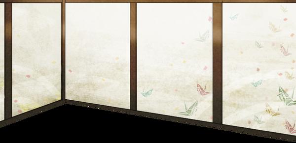 Wallpaper with origami crane motif