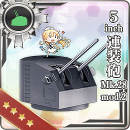 5inch Twin Gun Mount Mk.28 mod.2 172 Card