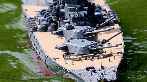 ラジコン 主砲可動 戦艦大和を作ってみた。