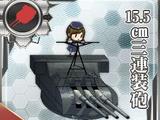 Pháo 3 nòng 15.5cm (chính)