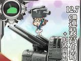 Pháo cao xạ 2 nòng 12.7cm + Trang bị cao xạ
