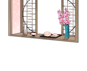Hinamatsuri window