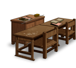 Classroom set Teacher's desk
