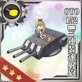 OTO 152mm Triple Rapid Fire Gun Mount 134 Card
