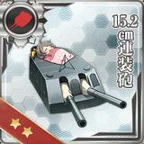 15.2cm Twin Gun Mount 065 Card