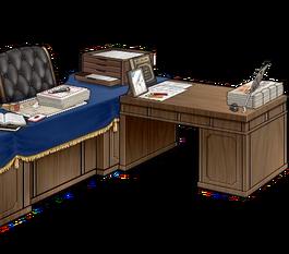 Secretary ship and admiral's desk