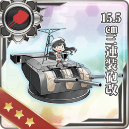 15.5cm Triple Gun Mount Kai 235 Card