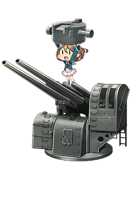 12.7cm High-angle Gun + Anti-Aircraft Fire Director 130 Full