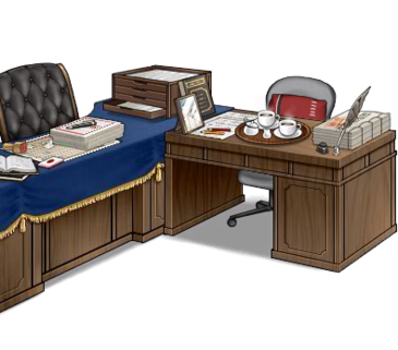 Secretary ship and admiral's desk Red full