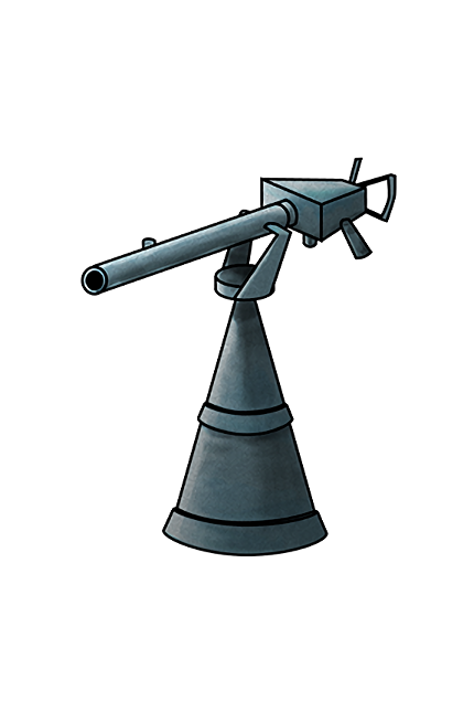 12.7mm Single Machine Gun Mount 038 Equipment