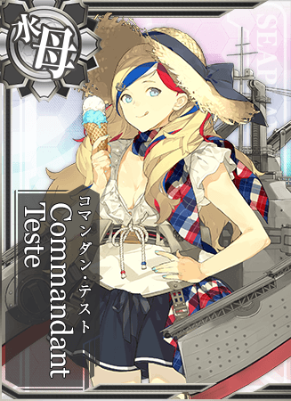Commandant Teste Summer Card