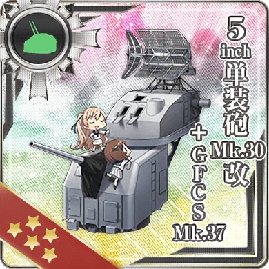 5inch Single Gun Mount Mk.30 Kai + GFCS Mk.37 308 Card