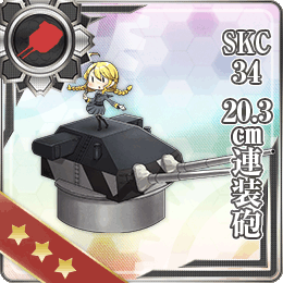 SKC34 20.3cm Twin Gun Mount 123 Card