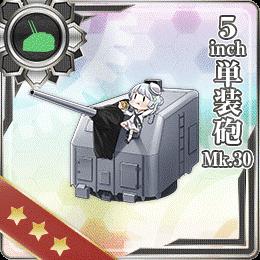 5inch Single Gun Mount Mk.30 284 Card