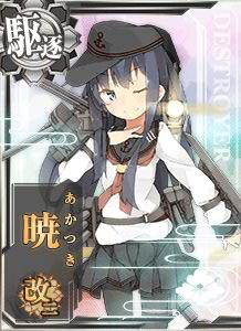 DD Akatsuki Kai Ni 437 Card