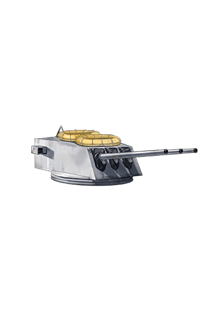 152mm 55 Triple Rapid Fire Gun Mount Kai 341 Equipment