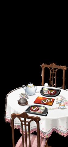 Naval base's tea party set