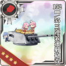 152mm 55 Triple Rapid Fire Gun Mount Kai 341 Card