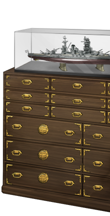 Kimono chest and Nagato model