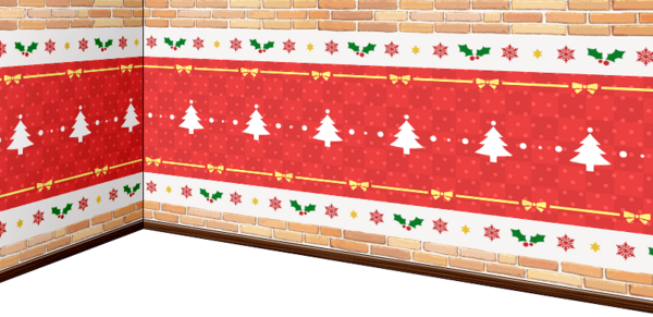 Brick-made Christmas Wall