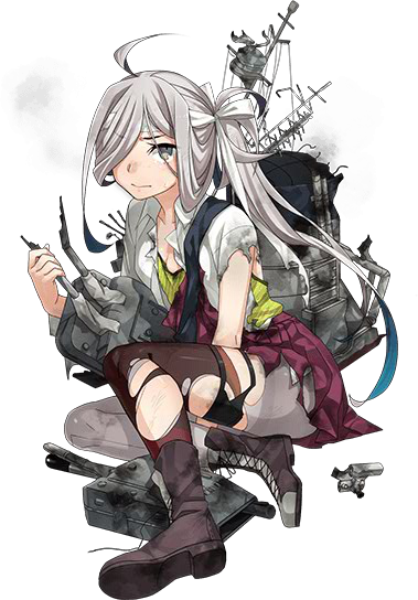 DD Asashimo Kai 344 Full Damaged