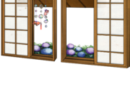 Window with hydrangeas