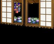 Window with hydrangeas