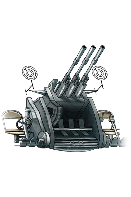 25mm Triple Autocannon Mount 040 Equipment