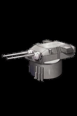 38cm Twin Gun Mount 076 Equipment