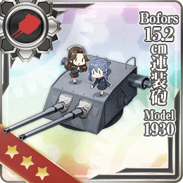 Bofors 15.2cm Twin Gun Mount Model 1930 303 Card