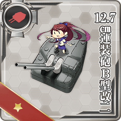 12.7cm Twin Gun Mount Model B Kai 2 063 Card