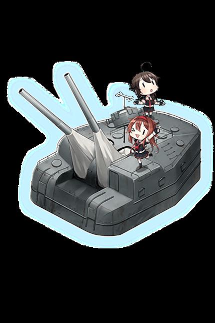 12.7cm Twin Gun Mount Model B Kai 4 (Wartime Modification) + Anti-Aircraft Fire Director 296 Full