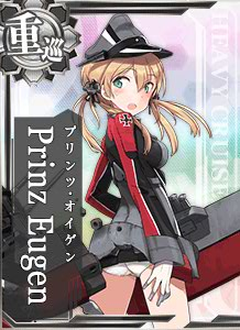 CA Prinz Eugen 176 Card Damaged
