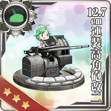 12.7cm Twin High-angle Gun Mount Kai 2 380 Card