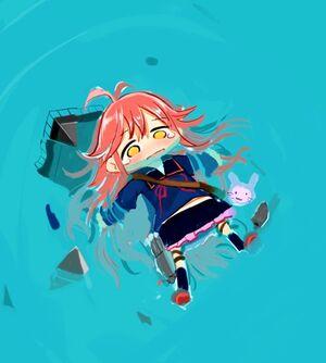 U-chan floating