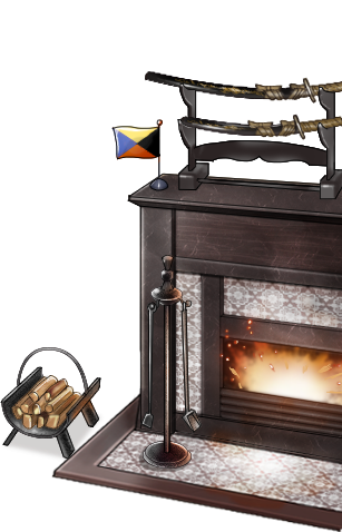 Fireplace with Z flag