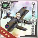 Swordfish Mk.II Kai (Reconnaissance Seaplane Model) 370 Card