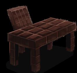 Chocolate-bar-shaped desk