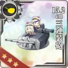 15.2cm Triple Gun Mount 247 Card