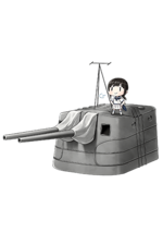 12.7cm Twin Gun Mount Model A Kai 2 294 Full