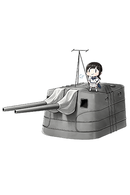 12.7cm Twin Gun Mount Model A Kai 2 294 Full