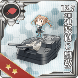12.7cm Twin Gun Mount Model C Kai 2 266 Card